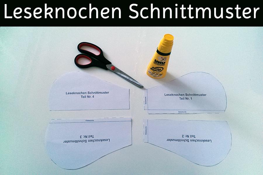 Leseknochen Schnittmuster - Schnittvorlage